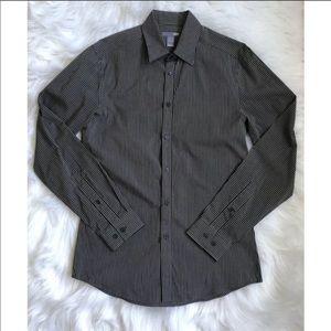 H&M Mens Button Down Striped shirt, Small